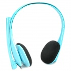 Stylish Headphone Headset with Microphone - Blue (3.5mm Jack)