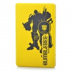 Transformers Pattern USB 2.0 SATA Hard Drive Disk Case Enclosure w/ Soft Pouch- Yellow