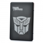 Transformers Pattern USB 2.0 SATA Hard Drive Disk Case Enclosure w/ Soft Pouch- Black