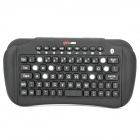 Mini Handheld Rechargeable Bluetooth V2.1 Wireless Keyboard - Black (2 x AAA)
