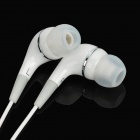 3.5mm In-Ear Earphone w/ Mic for IPAD / IPHONE / IPOD - White (110cm)