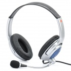 Fashion Headphone Headset with Microphone & Volume Control - Black + Silver