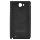 Protective Litchi Texture Plastic Back Case for Samsung i9220 - Black