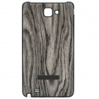 Protective Wood Grain Style Plastic Back Case for Samsung i9220 Galaxy Note - Grey