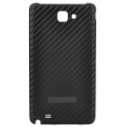Protective Leather Grain Style Plastic Back Case for Samsung i9220 Galaxy Note - Black