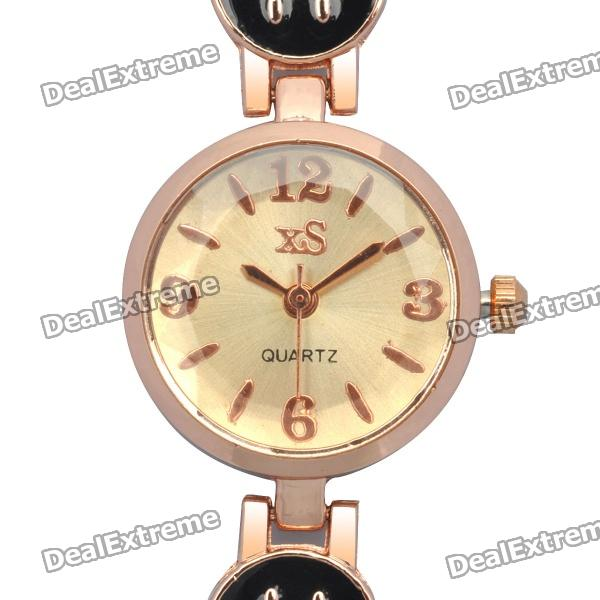 Stylish Smile Image Bracelet Style Quartz Wrist Watch - Black + Golden (1 x 377) delmon palace hotel ex vendome plaza 4 дубай