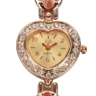Stylish Bracelet Style Quartz Wrist Watch - Golden (1 x 377)