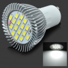 GU10 500-550LM 6000-6500K 16-SMD White Light Bulb (6.4W/AC220V)