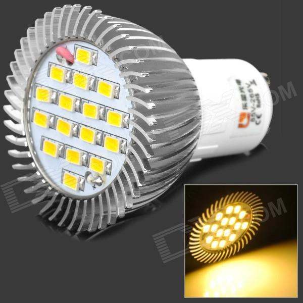 LeXing GU10 500-550LM 3500K 16-SMD LED Warm White Light Bulb (6.4W/AC220V)