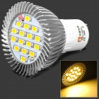 LeXing GU10 500-550LM 3500K 16-SMD LED Warm White Light Bulb (6.4W/85~265V)