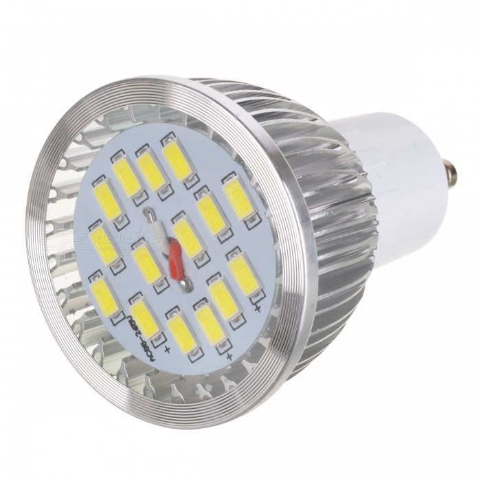 GU10 6.4W 6500K 530lm 15-SMD 5630 LED White Light Bulb (AC 220V)