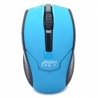 Stilvolle 2.4GHz Wireless Optical Mouse 1000CPI - Blau + Schwarz (2 x AAA)
