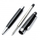 2 in 1 Universal Touchpad Stylus Pen + Ballpoint Pen for Tablet PC / PDA / Cellphone - Black