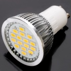 GU10 480-530LM 3000K 16-SMD LED Warm White Light Bulb (6.4W/AC220V)