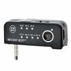 Mini Car FM Transmitter for iPhone + More - Black (3.5mm-Plug)