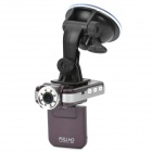 "F2000L 1080P 5MP CMOS Wide Angle Car DVR Camcorder w/ 8-IR LED / HDMI / AV / TF - Purple (2"" LCD)"