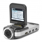 "F2000L 1080P 5MP CMOS Wide Angle Car DVR Camcorder w/ 8-IR LED / HDMI / AV / TF - Grey (2"" LCD)"