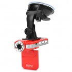 "F2000L 1080P 5MP CMOS Wide Angle Car DVR Camcorder w/ 8-IR LED / HDMI / AV / TF - Red (2"" LCD)"