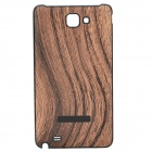 Protective Wood Grain Style Plastic Back Case for Samsung i9220 Galaxy Note - Yellow