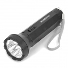 Rechargeable 1-Mode White 5-LED Flashlight with Strap - Black