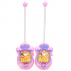 Cute Snow White Style Interphone / Walkie Talkie - Pink + Light Purple (Pair /1 x 6F22)