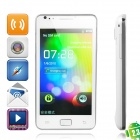 "A9100 Android 2.3 WCDMA Smartphone w/4.3"" TFT Capacitive, Dual SIM, Wi-Fi and GPS - White"