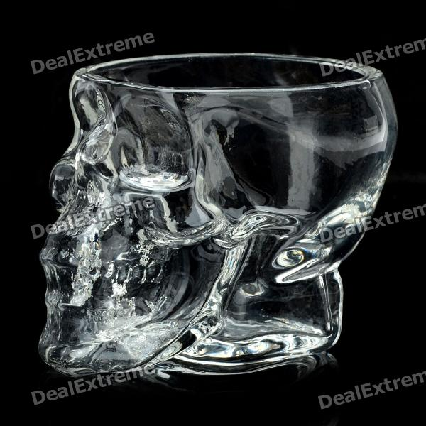 Creative Scary Crystal Skull designed Vodka Whiskey Shot Glass - Transparent