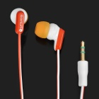 SN-337MP Trendy Stereo Earphone - Red + White (3.5mm Jack / 144cm Length)