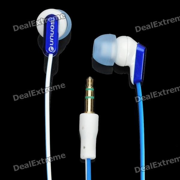 SN-334MP Fashion Stereo Earphone without Microphone - White + Blue sn 335mp fashion stereo earphone without microphone white red