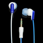 SN-334MP Fashion Stereo Earphone without Microphone - White + Blue