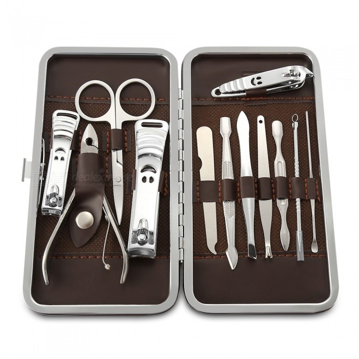 12-in-1 Stainless Steel Nail Care Manicure Set
