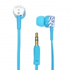 SQ-83MP Fashion In-Ear Stereo Earphone - Blue (3.5mm-Jack / 131CM-Cable)