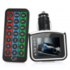 "1.7"" LCD Car MP3 / MP4 Player w/ Remote Controller / TF Slot / FM (DC 12V / CR2032)"