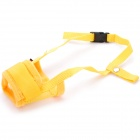 Useful Adjustable Pet Dog Muzzle Set - Yellow (Size-L)