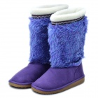 Women's Warm Snow Boots Shoes - Purple (EUR Size-38)