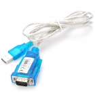 USB 2.0 to RS232 Serial Port Adapter Cable - Blue + Silver (115CM-Length)