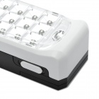 Rechargeable 20-LED 2-Mode White Light Emergency Lamp w/ Hook - White