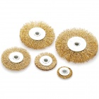 Steel Wire Grinding Wheel Head for Nurbisher & Polisher (5-Piece Pack)