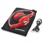 Genuine ZORO High Performance Folding Headphone Headset - Red + Black