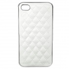 Protective ABS + Leather Back Case for Iphone 4 / 4S - White