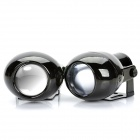 H3 55W 200LM 6000K White Light Car Fish-Eye Lens Halogen Fog Lamps (DC 12V / Pair)
