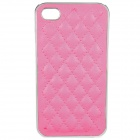 Protective ABS + Leather Back Case for iPhone 4 / 4S - Rosy
