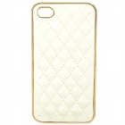 Protective ABS + Leather Back Case for Iphone 4 / 4S - Beige