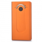 3500mAh Emergency Mobile Power Bank Charger w / White 1-LED-Taschenlampe / Dual-USB-Ausgang - Orange