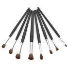 Portable Beauty Cosmetic Makeup Brush Set with Black Bag (18-Piece Pack)