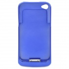 Rechargeable 1500mAh External Battery Back Case for iPhone 4 - Blue