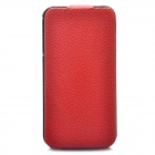 Fashion Protective Leather Case for iPhone 4 - Red