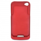 Rechargeable 2300mAh External Battery Back Case for iPhone 4 - Red