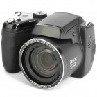 "S5000 16MP Digital  Camera w/ 3"" LCD, 21X Optical Zoom, HDMI and SD - Black (4 x AA)"