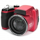 "S5000 16MP Digital  Camera w/ 3"" LCD, 21X Optical Zoom, HDMI and SD - Red (4 x AA)"
